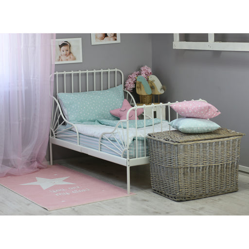 3 Piece Toddler Bedding Set, Mint Green