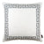 Geometric Greek Key White and Gray Decorative Throw Pillow Cover
