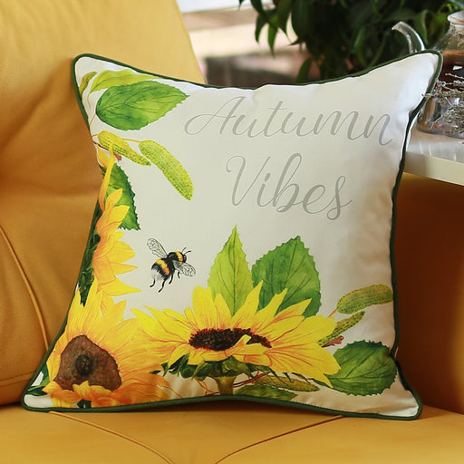 Fall Season Thanksgiving Autumn Vibes Throw Pillow Cover 18''x18''