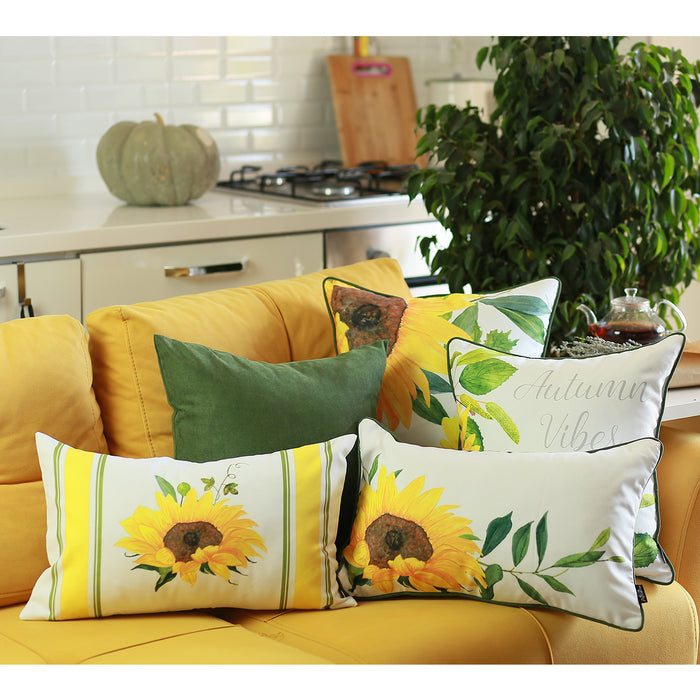 Fall Season Thanksgiving Sunflower Throw Pillow Cover 18''x18''