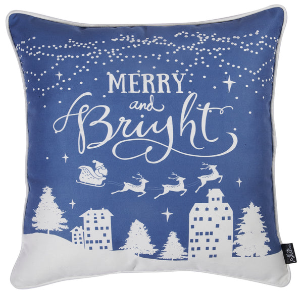 "Christmas Snow Printed Decorative Throw Pillow Cover Home Décor 18""x18"""