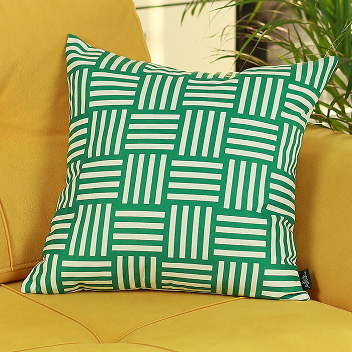 Memphis Square Printed Decorative Throw Pillow Cover Home Decor Pillowcase 18''x18''