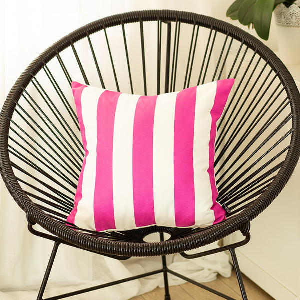 Geometric Pink Stripes Decorative Throw Pillow Cover Printed Home Decor 18''x18''