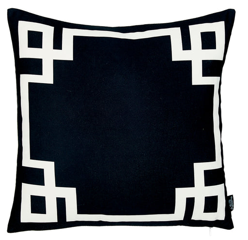 Geometric Black and White Decorative Throw Pillow Cover Printed Home Decor 18''x18''