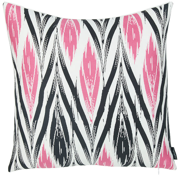 Geometric Pink Lit Decorative Throw Pillow Cover Printed  Home Decor 18''x18''