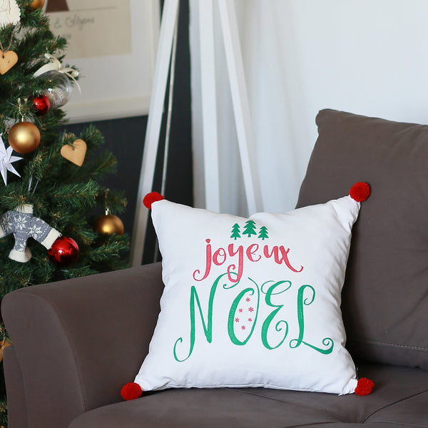 "Christmas Noel Printed Throw Pillow Cover Christmas Gift 18""x18"""