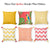 Tropical Squares Printed Decorative Throw Pillow Cover Home Decor Pillowcase 18''x 18''
