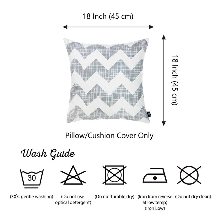 Tropical Gray Chevron Printed Decorative Throw Pillow Cover Home Decor Pillowcase 18''x 18''