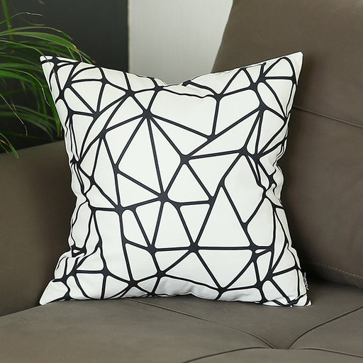 Scandi BW Tangle Decorative Throw Pillow Cover Printed Home Decor 18''x18''