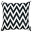 "Black and White Chevron Decorative Throw Pillow Cover Home Decor 18""x18"""