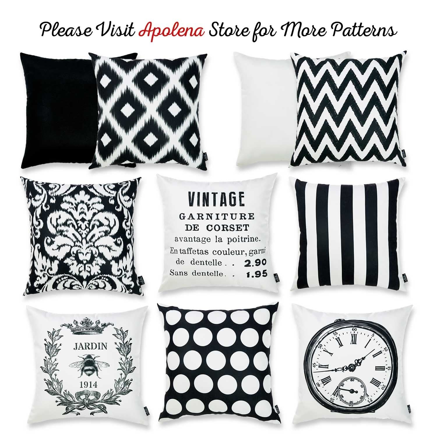 Admirable Black And White Vintage Decorative Throw Pillow Cover Home Decor 18X 18 Uwap Interior Chair Design Uwaporg
