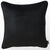 Velvet Black Decorative Throw Pillow Cover Home Decor 18''x 18''