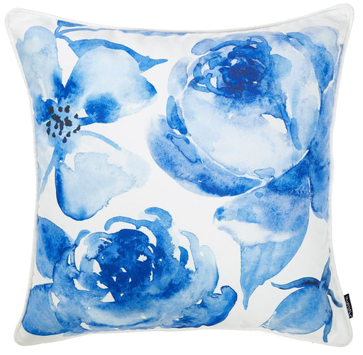 Blue Sky Petals Decorative Throw Pillow Cover Printed Home Decor 18''x 18''