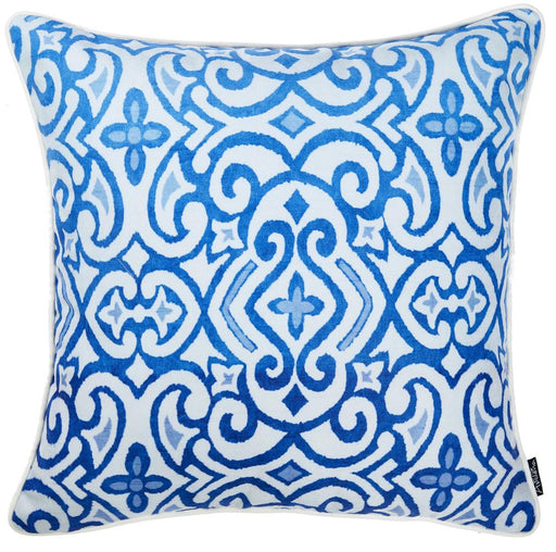 Blue Sky Scroll Decorative Throw Pillow Cover Printed Home Decor 18''x 18''