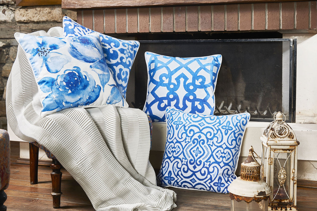 Blue Sky Scroll Decorative Throw Pillow Cover Printed Home Decor 18 Òx 18