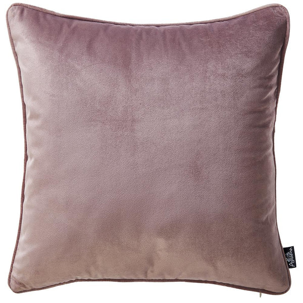 Velvet Blush Pink Green Decorative Throw Pillow Cover Home Decor 18''x 18''