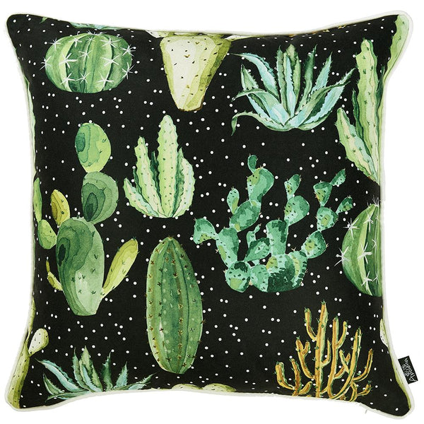 Cactus Madness  Decorative Throw Pillow Cover Printed Home Decor  18''x 18''
