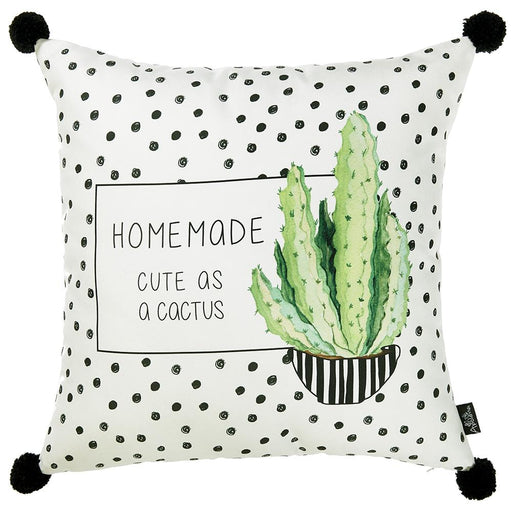 Cactus Dotted  Decorative Throw Pillow Cover Printed Home Decor 18''x 18''