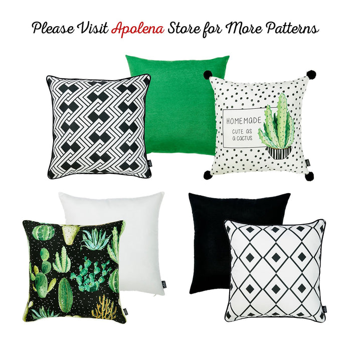 Cactus Lotus Decorative Throw Pillow Cover Printed Home Decor  18''x 18''