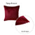Velvet Carmine Red Decorative Throw Pillow Cover Home Decor 18''x 18''