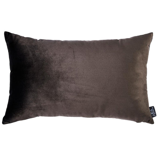 Velvet Carob Brown Decorative Throw Pillow Cover Home Decor 14''x 21''
