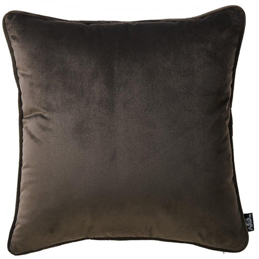 Velvet Carob Brown Decorative Throw Pillow Cover Home Decor 18''x 18''