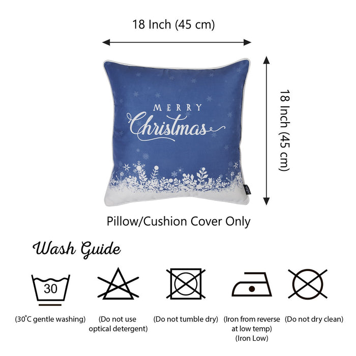 Christmas Snow View Printed Decorative Throw Pillow Cover Home DŽcor