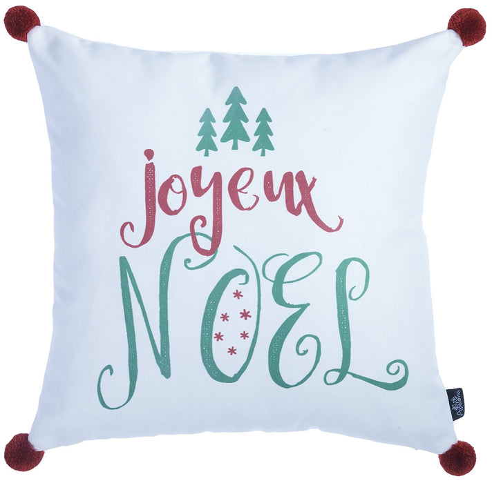 "Christmas Noel Printed Decorative Throw Pillow Cover Home Decor 18""x18"""