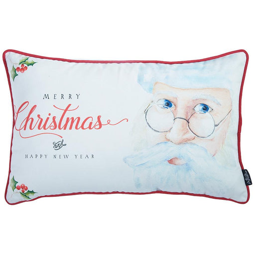 Christmas Printed Decorative Throw Pillow Cover Home Decor 12''x 20''