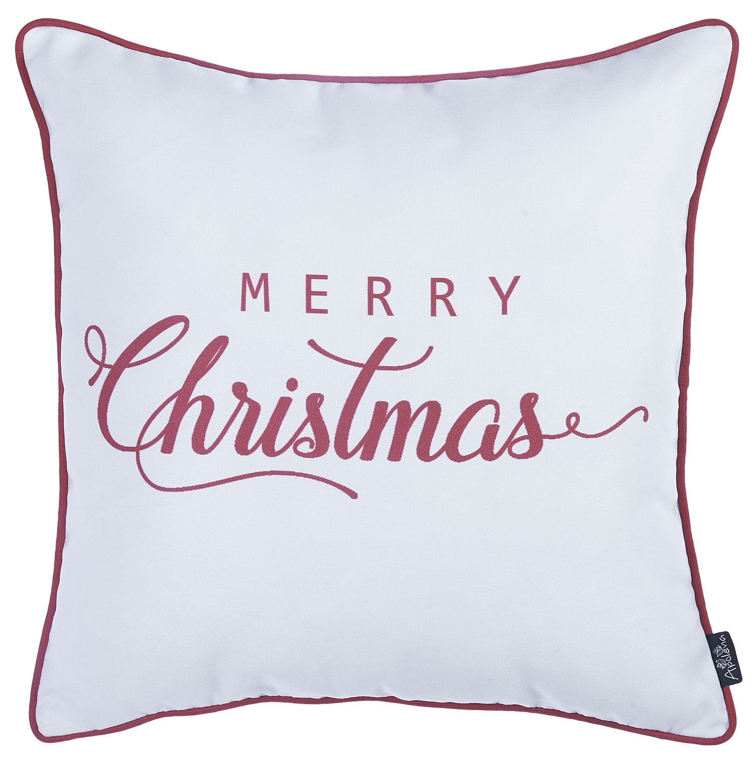 67ba1ec56b Christmas Red Quote Printed Decorative Throw Pillow Cover Home Decor  18