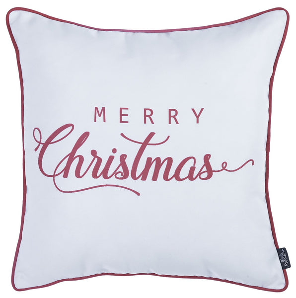"Christmas Red Quote Printed Decorative Throw Pillow Cover Home Decor 18""x18"""