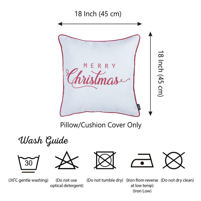 Christmas Red Quote Printed Decorative Throw Pillow Cover Home DŽcor