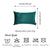 Velvet Dark Emerald Green Decorative Throw Pillow Cover Home Decor 14''x 21'' (2 Pcs in set)