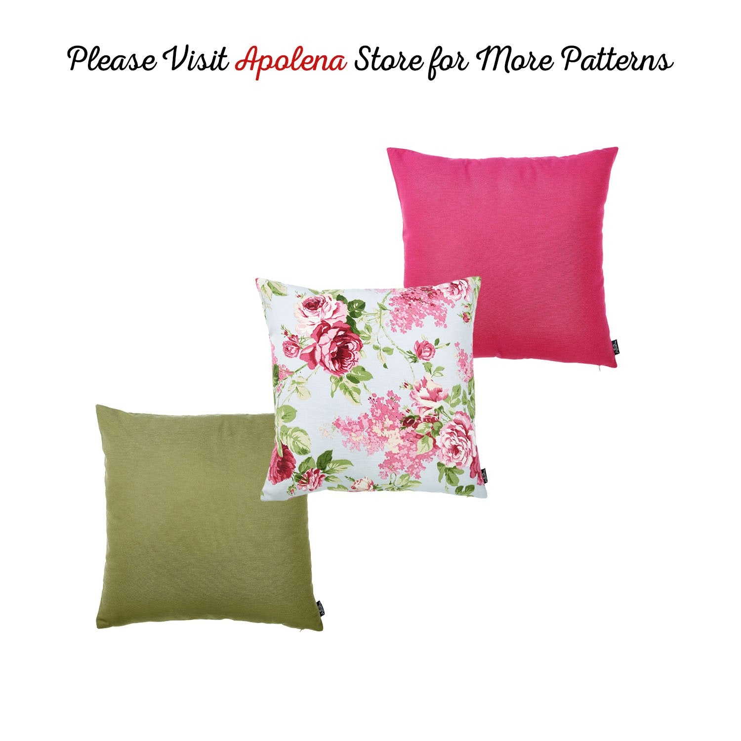 Easy Care Pink Green Decorative Throw Pillow Cover Apolena