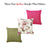 Easy Care Other  Fushia Floral Decorative Throw Pillow Cover Home Decor