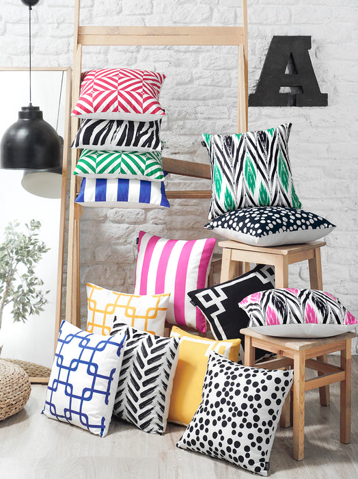 Geometric Ying Decorative Throw Pillow Cover Printed Home Decor 18''x18''