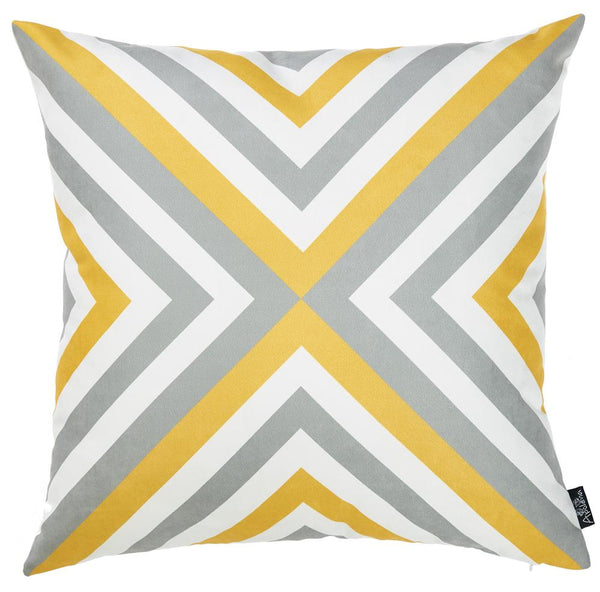 Geometric Flashback Decorative Throw Pillow Cover Printed Home Decor 18''x18''