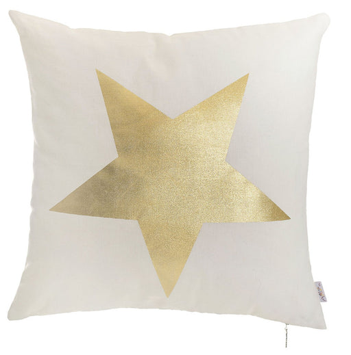 Happy Square Star Printed Decorative Throw Pillow Cover Home DŽcor Pillowcase