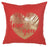 Happy Square Gold Heart  Printed Decorative Throw Pillow Cover Home Decor Pillowcase 18''x 18''