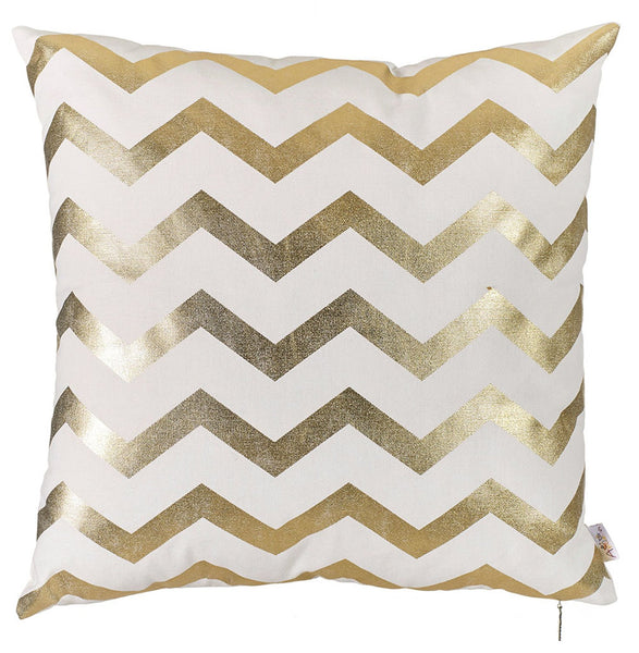 Happy Square Zigzag Printed Decorative Throw Pillow Cover Home DŽcor Pillowcase