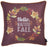 Fall Season Thanksgiving Leaf Crown Square Printed  Decorative Throw Pillow Cover 18''x 18''