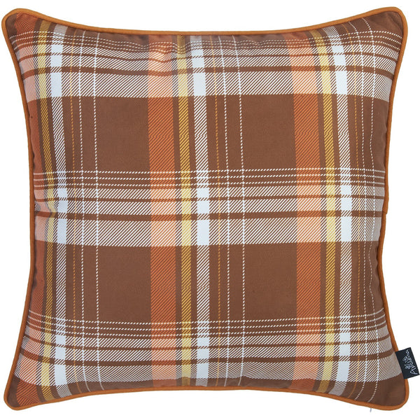 Fall Season Thanksgiving Rustic Square Printed Decorative Throw Pillow Cover 18''x 18''