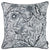 Jacquard Artistic Grey Leaf Decorative Throw Pillow Cover Home Decor 17''x 17''