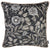 Jacquard Black Leaf Decorative Throw Pillow Cover Home Decor 17''x 17''