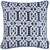 Jacquard Light Blue Geo Decorative Throw Pillow Cover Home Decor 17''x 17''
