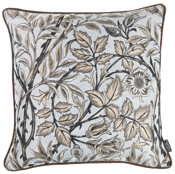 Jacquard Brown Weaver Decorative Throw Pillow Cover Home Decor 17''x 17''