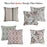 Jacquard Brown Leaf Decorative Throw Pillow Cover Home Decor