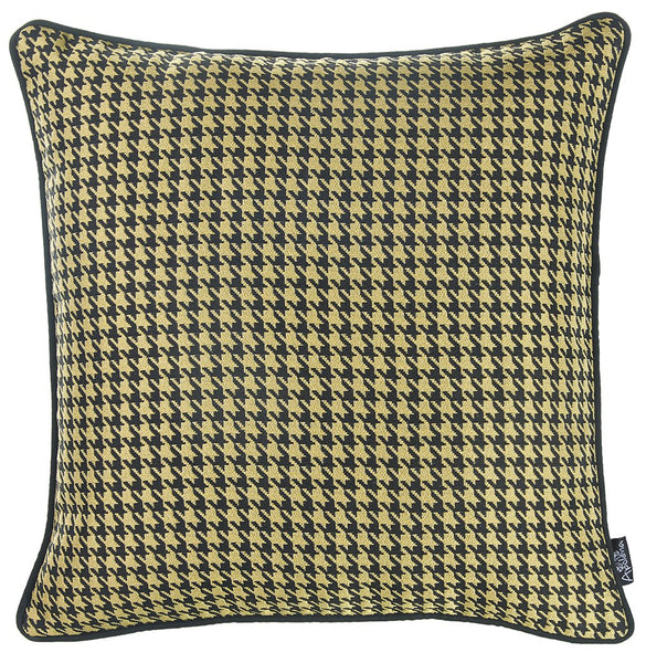 Jacquard Yellow Decorative Throw Pillow Cover Home Decor 17''x 17''