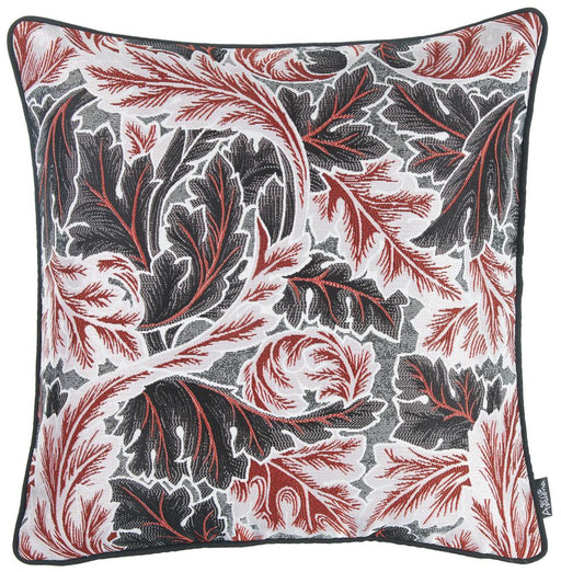 Jacquard Colored Maple Leaf Decorative Throw Pillow Cover Home Decor 17''x 17''