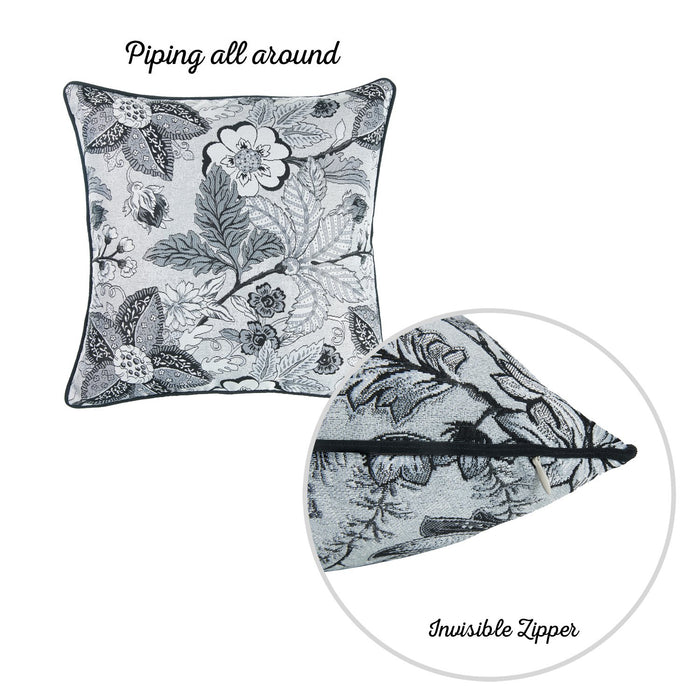 Jacquard Forest Breath Throw Pillow Cover 17''x 17'' (2 Pcs in set)